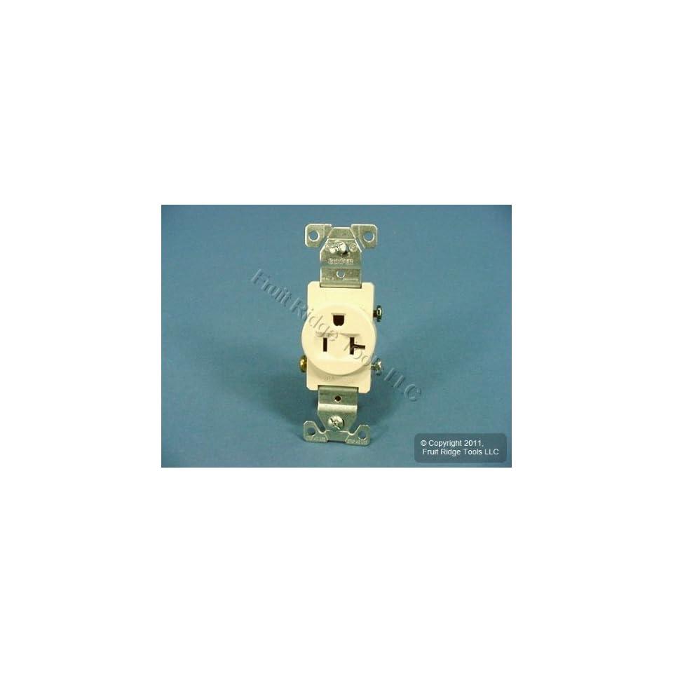 NEMA 5-20 Eaton TR1877LA-SP-L Heavy Duty Tamper Resistant Single Receptacle with 20-Amp 125-Volt Light Almond