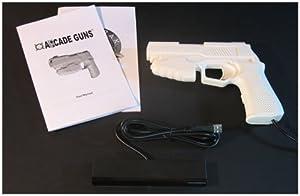 Starter Arcade Guns PC Light Gun Kit (White) - [White Buttons/Trigger] from Harbo Entertainment LLC