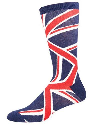 Socksmith Men's Socks Union Jack Crew Blue 1pair (British Flag Union Jack compare prices)