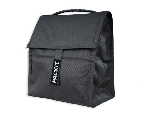 Grey Personal Cooler Lunch bag,gel lined, folds compactly and stores directly in the freezer, no ice needed!