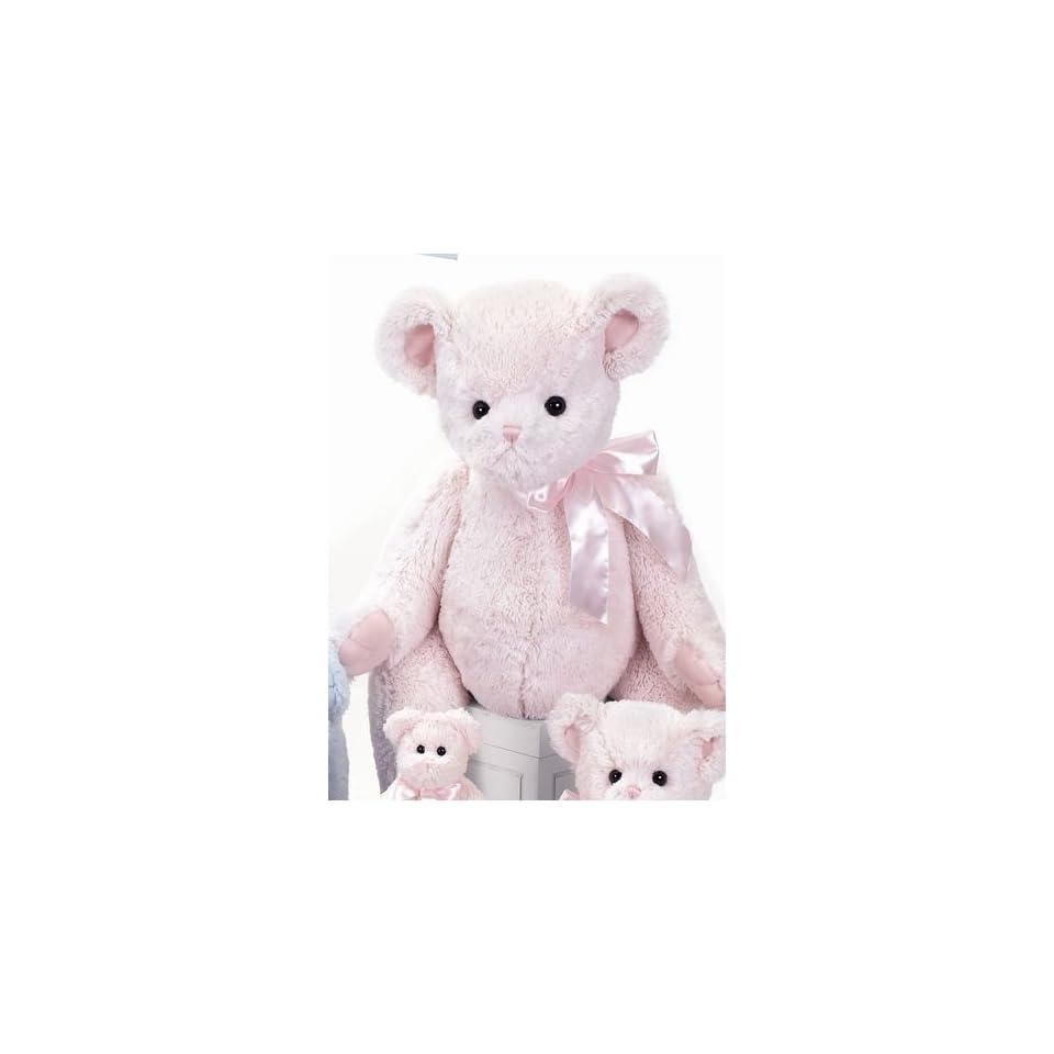 Giant Plush Pink Teddy Bear for Baby Girl by Bearington