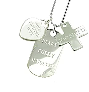 Firefighter Wife Dog Tag FDTGS