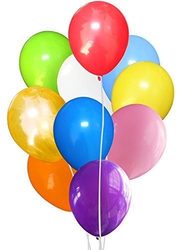 100 Pcs Assorted Color Helium Latex Balloons MADE IN CANADA