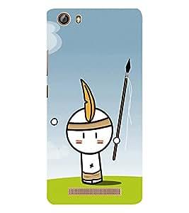 EPICCASE Tribal Boy Mobile Back Case Cover For Gionee Marathon M5 lite (Designer Case)
