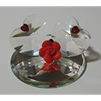 Crystal Double Heart Made with Swarovski Crystal