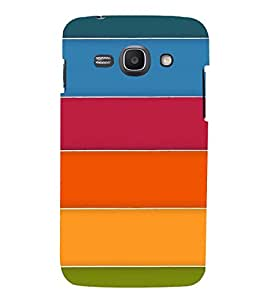 MULTICOLOURED STRIPES PATTERN 3D Hard Polycarbonate Designer Back Case Cover for Samsung Galaxy Ace 3 :: Samsung Galaxy Ace 3 S7272