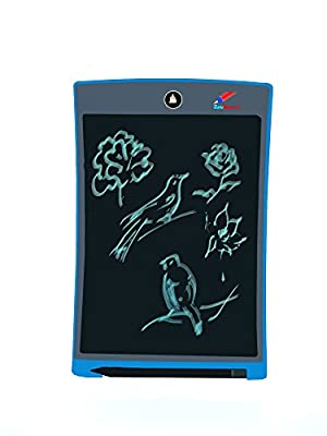 ZAM-Board® Writing Tablet 8.5 inch Electronic Smart LCD Writer With Stylus. Paperless Writing Pad With Replaceable Battery - Quick Erase With One Button- Great For Kids & Adults (Magnetic Back) (Blue)