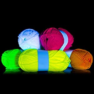 String Uv Lights : 5xUV Neon Wool Black Light String Art Knit Theater Costumes GOA Decoration Knitting Party Yarn ...
