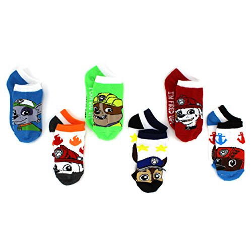 Paw Patrol Boys Girls 6 pack Socks (Toddler/Little Kid)