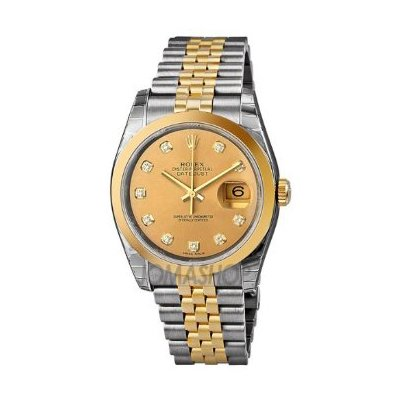 Rolex Datejust Champagne Automatic Stainless Steel and 18K Yellow Gold Mens 116203CDJ