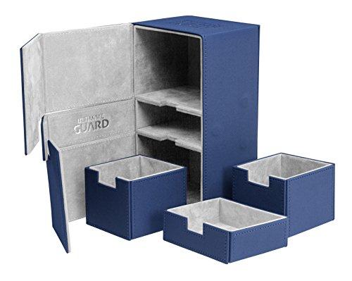 Ultimate Guard Twin Flip'n'Tray Deck Case 200+ Caja de Cartas Tamaño Estándar XenoSkin Azul