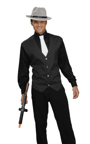 Men's Gangster Shirt, Vest And Tie Costume
