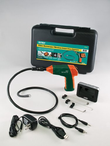 Makes home, automotive, HVAC, & industrial inspections easy w/ long gooseneck cable and a detachable monitor