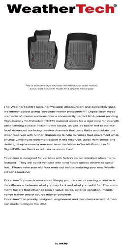 2012 - 2014 Toyota Camry - WeatherTech - FloorLiner - Front (2014 Camry Weathertech Floor Mats compare prices)