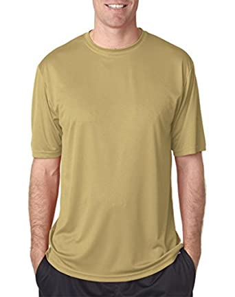 A4 Mens Cooling Performance Crew T-Shirts Small Vegas Gold