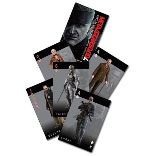 Metal Gear Solid 4 Guns of the Patriots Playing Card