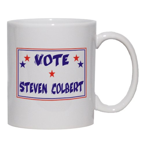 Vote Steven Colbert Mug For Coffee / Hot Beverage (Choice Of Sizes And Colors)