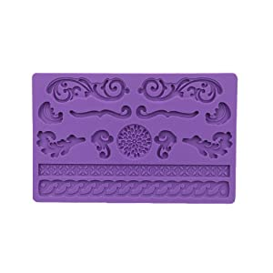 iClover Quality Food Grade Silicone Fondant Mold Cake Mold Soap Mold-Lace For Baking Fancy Cakes Chocolate