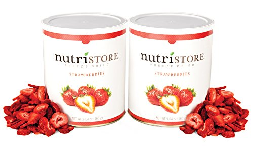 Freeze-Dried Strawberries, 5.64 oz (Pack of 2) by Nutristore (Freeze Dried Strawberries Bulk compare prices)
