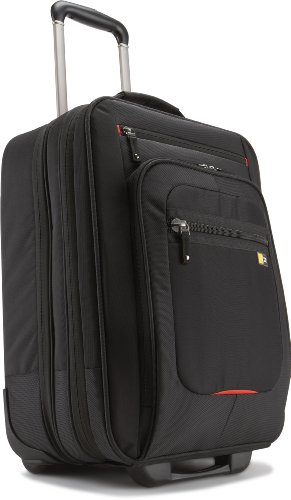 Case Logic Nylon Security Friendly Roller Bag for 17 inch Laptops - Black