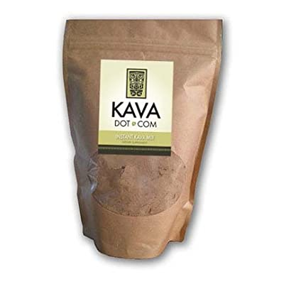 KavaDotCom Premium Instant Kava Kava Powder Mix for Anxiety, Sleep Aid, and Muscle Relaxation (8oz)