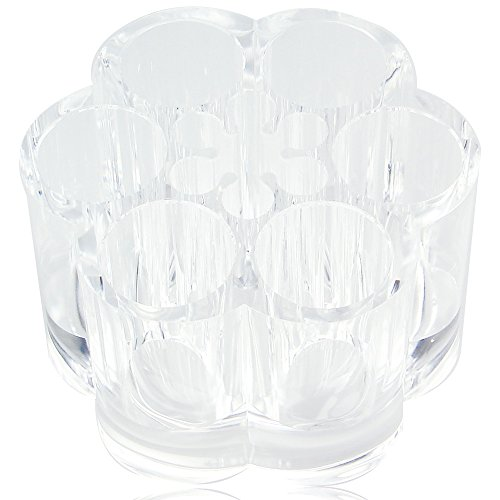 Acrylic Flower Cosmetic and Makeup Brush Holder with 12 Spaces.
