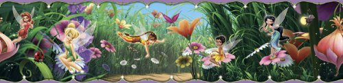 Blue Mountain Wallcoverings DS026453 Disney Fairies Movie Self-Stick Wall Border, 5-Inch by 15-Foot