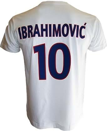 T-shirt PSG - Zlatan IBRAHIMOVIC - N°10 - Collection officielle PARIS SAINT GERMAIN - Football club Ligue 1 - Taille adulte homme XL