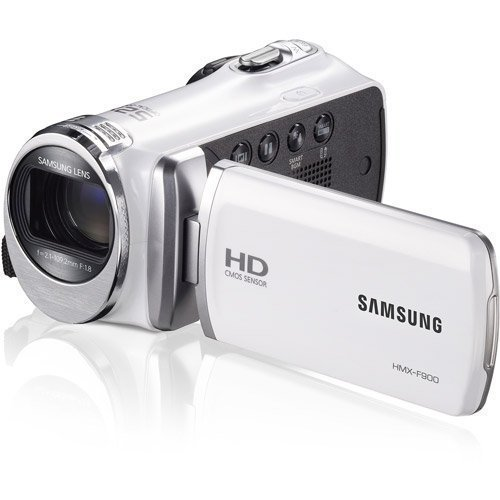 Samsung F90 White Camcorder with 2.7″ LCD Screen and HD Video Recording (Certified Refurbished)