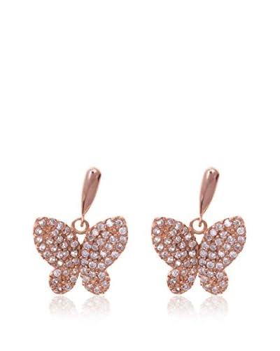 Silver Luxe Pendientes Mariposa & Diamantada