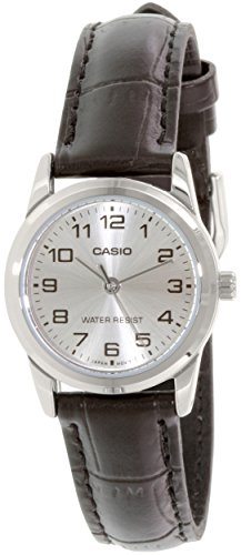 LADIES TRADITIONAL CASIO WATCH WITH BROWN LEATHER STRAP