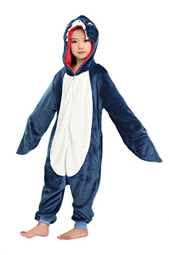 Anim-Unisex Kigurumi Pajamas Kids Costume Animal Pyjamas-shark