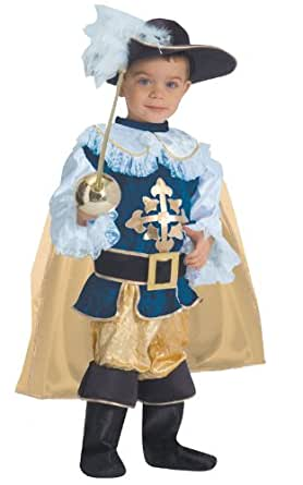 Deluxe Musketeer Toddler Costume Size 2T