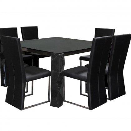 Buy Low Price Diamond Sofa 9 Pc 54 In Square Dining Table