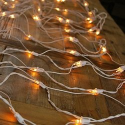 Net Lights, White Wire, 2X8 Ft., 150 Bulbs, Plug In, Clear