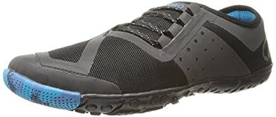 SKORA Men's Phase-X Running Shoe,Stealth Black/Cyan,7 M US
