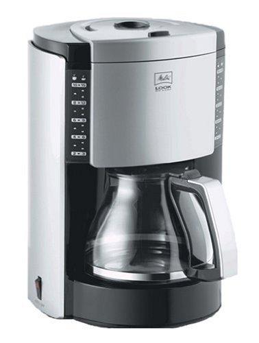 Melitta Look Deluxe Filter Coffee Machine, Black/ Silver