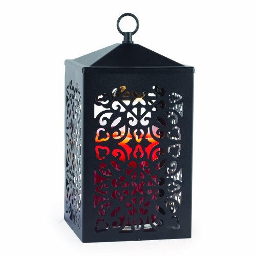 Candle Warmers Etc. Scroll Candle Warmer Lantern, Black
