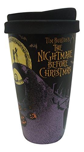 Disney Jack Skellington Travel Coffee Mug Lid Tea Cup Tumbler Nightmare before Christmas (Disney Coffee Travel Cup compare prices)