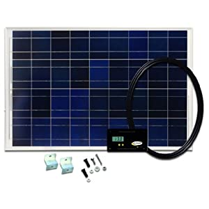 Go Power! GP-RV-80 80-Watt Solar Kit with 25 Amp Digital Regulator