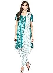 Soundarya Ethnicwear Salwar Bandhej Salwar Suit Material For Women (Bs15)