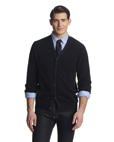 Alex Cannon Men's Long Sleeve Button Cardigan Solid Sweater