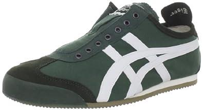 Onitsuka Tiger Mexico 66 Slip-On Fashion Sneaker,Hunter Green/White,13 M US Women's/11.5 M US Men's