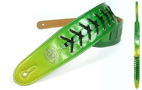 Green 'Lace Series' Faux Leather Guitar Strap For Electric/Acoustic/Bass Guitar