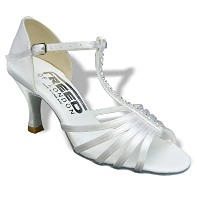 Size 6 US - BRIDAL TINA SATIN WITH THREE INCH HEEL Ivory