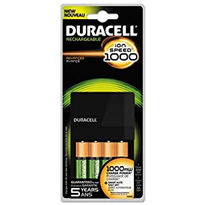 Duracell Rechargeable Pre Charged Batteries And Charger Aa Nimh Carded