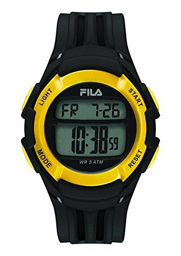 Fila-Bracciale unisex orologio digitale al quarzo 38-048-103FILA casual Nero Giallo Plastica