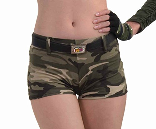 Forum Novelties Women's Combat Cutie Adult Costume Camo Shorts