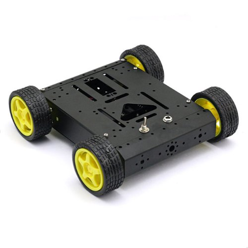 Sainsmart 4Wd Drive Aluminum Mobile Robot Platform For Robot Arduino Uno Mega2560 R3 Duemilanove *Black*