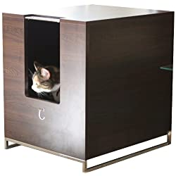 Modern Cat Designs Litter Box Hider - Brown